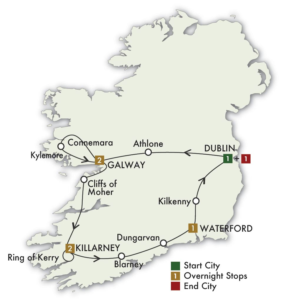 Irish Gold Map