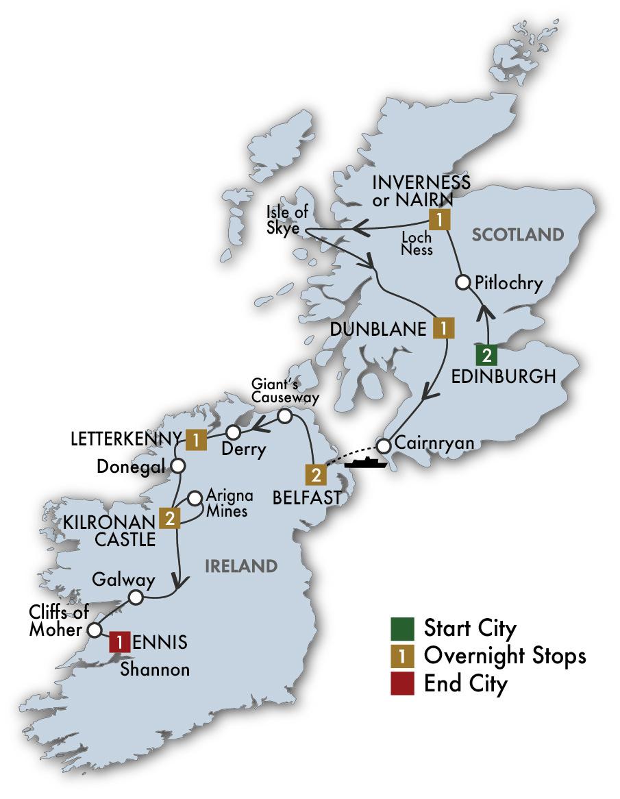 Can Escorted tours of ireland scotland apologise